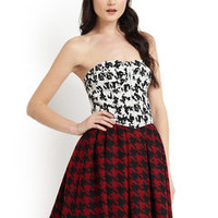 ideeli | 2B. RYCH Mixed Houndstooth Bustier Dress