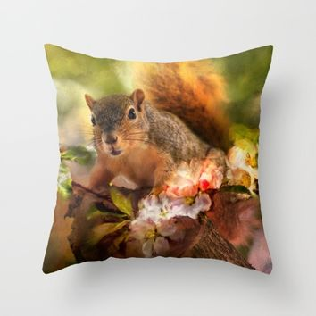 You Foxy Thing Throw Pillow by Theresa Campbell D'August Art