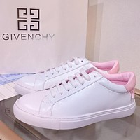 GIVENCHY Fashion Women Casual Breathable Running Sport Shoes Sneakers White&Pink Tail