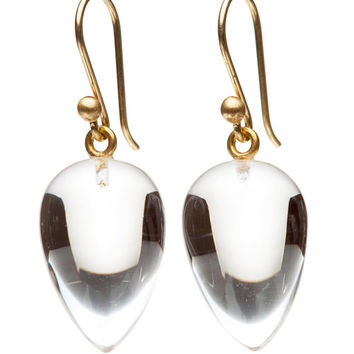Ted Muehling Clear Crystal Acorn Earrings