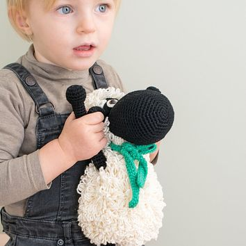 Black Handmade Sheep Stuffed Animal