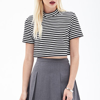FOREVER 21 Pleated Mini Skirt Heather Grey