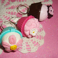 Fairy Kei Flower Cupcake Lipgloss Rings  choose one by wearitcuter