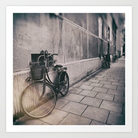 street photo BICYCLES #street #streetphoto Art Print by jbjart