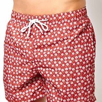 Bellfield Floral Print Swim Shorts at asos.com