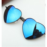 New metal love sunglasses peach-shaped heart mirror spring leg personalized decoration men and women