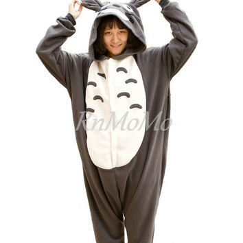 All Onesuits 40% OFF  KIGURUMI Cosplay Romper Charactor animal Hooded Night clothes Pajamas Pyjamas Costume Sleepwear dark totoro