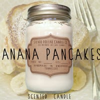 Scented Candle Banana Pancakes // 16oz \\ Soy Wax Candles, Banana Scent, Banana pancakes,gifts for women,gift idea,candle gift,candles