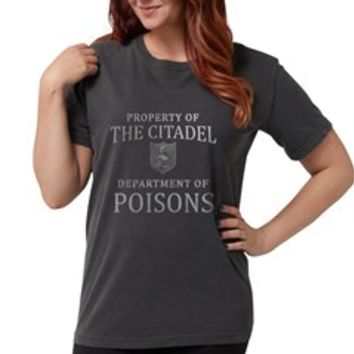 THE CITADEL Dept of Po Womens Comfort Colors Shirt> Game Of Thrones Citadel Poisons> Scarebaby Design