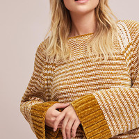 Oversized Chenille Striped Pullover