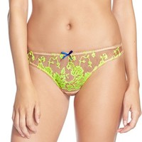 Women's Heidi Klum Intimates 'Sun Kissed' Embroidered Thong,