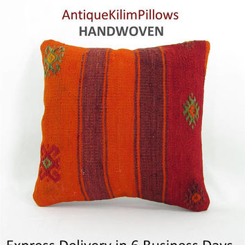 decorative pillows home decor kilim pillow cover pillowcases throw pillow boho kilim rug pillow turkish pillow 000556