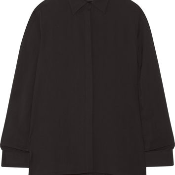 The Row - Carlton crepe shirt