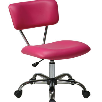 Ave Six Vista Task Office Chair - Pink