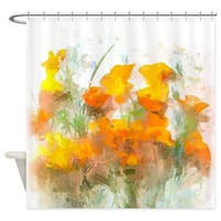SUNRISE POPPIES SHOWER CURTAIN