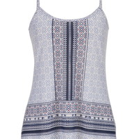 swing tank in mixed ethnic prints