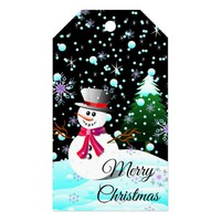 "Snowman ""Merry Christmas"" personalised Gift Tags"