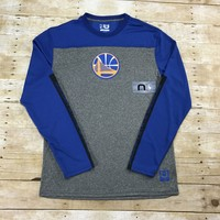 Golden State Warriors NBA Long Sleeve Polyester Shooting Warmup Shirt Mens Size Large