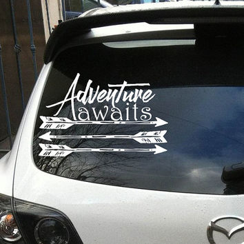 Car Decals Adventure Awaits Vinyl Sticker Decals Boho Arrow Decal  Bohemian Bedding Decor Vinyl Sticker Window Truck Decal Stickers T32