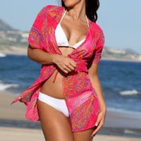 Paisley Passion Robe Cover-Up