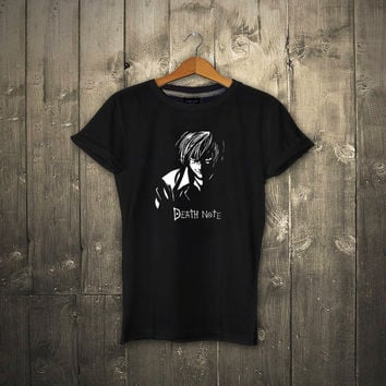 Death Note - Japanese Anime Manga L Kira Ryuk Yagami Light shinigami T Shirt