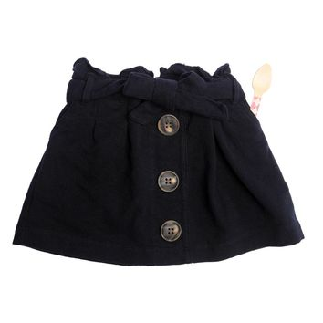 Quinn Button Down Skirt Navy