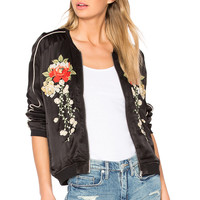 BLANKNYC Embroidered Bomber Jacket in Own The Night | REVOLVE