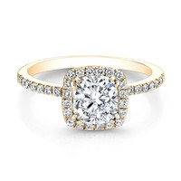 Forevermark Center of My Universe Cushion Diamond Halo Ring 1 3/8ctw