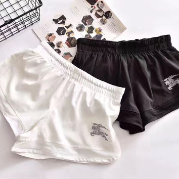 Burberry | Women Black/White Casual Shorts