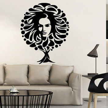 Wall Decal Tree Symbol The Image Of Women Vinyl Sticker Face Decals Decor C332