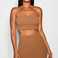 Strappy Crop & Mini Skirt Co-ord Set | Boohoo