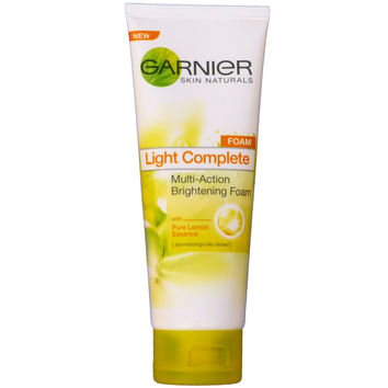 Garnier Light Complete Multi-Action Brightening Facial Foam Cleanser 100ml