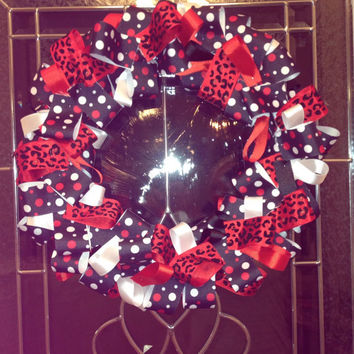 UGA bulldogs ribbon wreath go dawgs