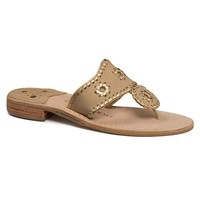 Palmetto Moon | Jack Rogers Nantucket Gold Sandals