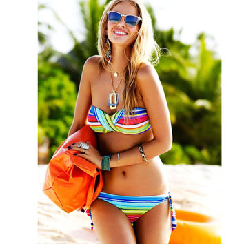 New Arrival Beach Swimsuit Hot Sexy Summer Tankini Swimwear Print Bottom & Top Bikini [11054785807]