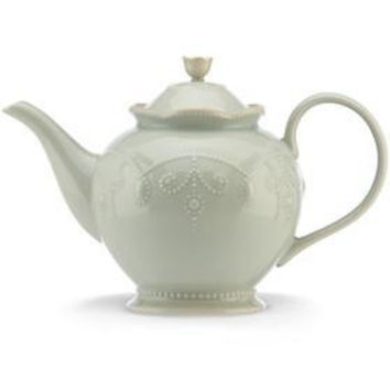 French Perle Ice Blue Teapot by Lenox