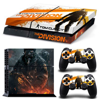 The Division Style Protective Cover Skin Stickers for PS4 console and 2 controllers