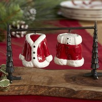 Santa Suit Salt & Pepper Shakers