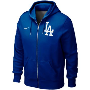 L.A. Dodgers Nike Classic Full Zip Hoodie 1.2 – Royal Blue
