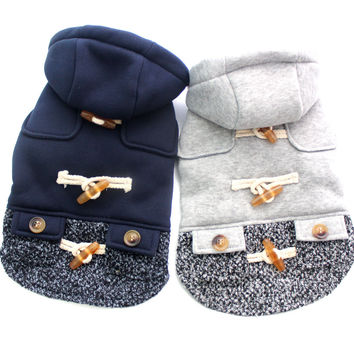 New arrival Girl Dog Cat Hoody Sweater Pet Puppy Coat Jacket clothes Horns deduction design 5 sizes 2 colors