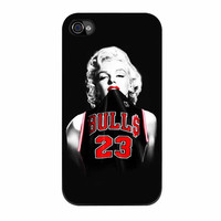 Marilyn Monroe Chicago Bulls Jersey Michael Jordan iPhone 4 Case
