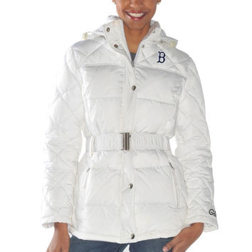 Boston Red Sox Ladies Icing Full Zip Quilted Jacket - White
