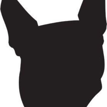 Boston Terrier Silhouette Dog Puppy Breed Long Die Cut Vinyl Transfer Decal Sticker
