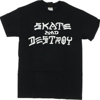 Thrasher Skate & Destroy Tee Small Black