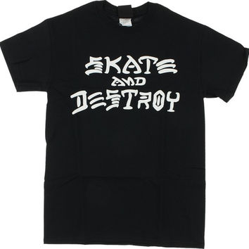 Thrasher Skate & Destroy Tee XL Black