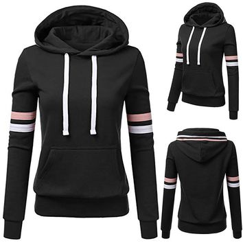 LL Women's Arm Striped Hoodies