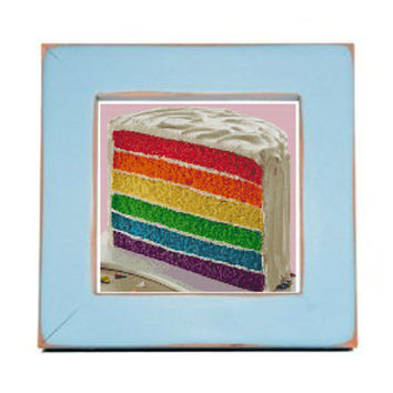 Rainbow Cake Cross Stitch Pattern