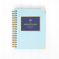 2016 WEEKLY Simplified Planner - Mint Dot