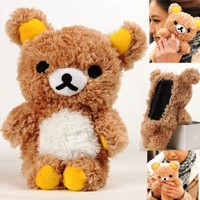 Authentic iPlush Plush Toy Case (iTouch 4, Brown Bear)