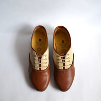 Pony Oxford Duo Brown-Beige (Handmade to order)